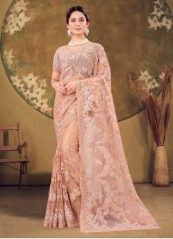 This Wedding Season Wear Designer Net Saree In Dus