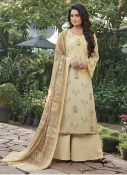 Tiptop Cream Designer Pakistani Suit