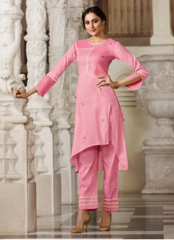 Titillating Handloom Cotton Fancy Party Wear Kurti