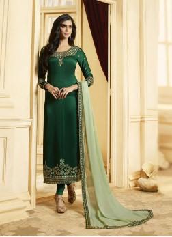 Topnotch Green Designer Pakistani Suit