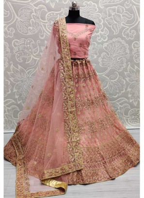 Traditional Embroidery Designer Lehenga Choli In Peach