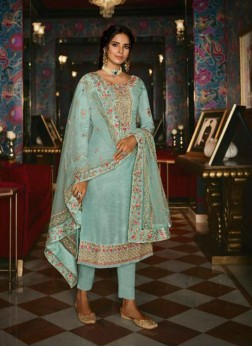 Transcendent Embroidered Designer Pakistani Suit