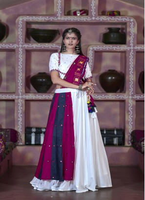 Tremendous White Navratri Chaniyacholi