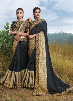 Trendy Saree Lace Art Silk in Grey
