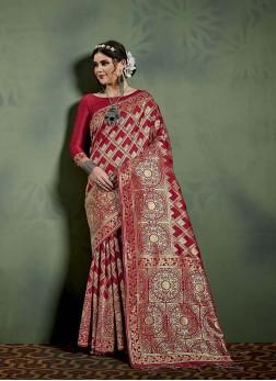 Unique Art Banarasi Silk Designer Saree