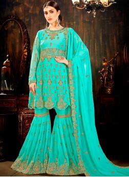 Unique Dori Work Mehndi Designer Palazzo Salwar Suit