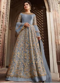 Urbane Blue Sangeet Anarkali Salwar Suit