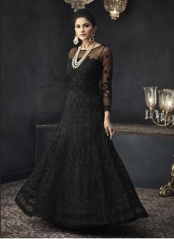 Vibrant Net Floor Length Anarkali Suit
