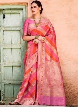 Vivid Multi Colour Party Traditional Designer Saree