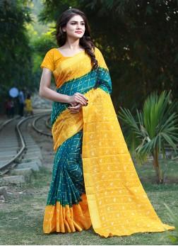 Voguish Bandhej Traditional Saree