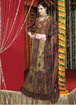 Voguish Net Wedding Bridal Lehenga Choli