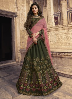 Whimsical Green Wedding Designer Lehenga Choli