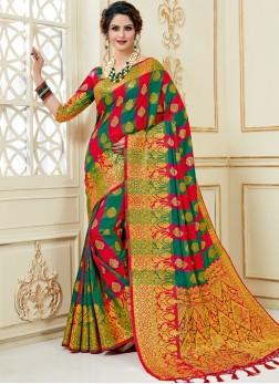 Wonderous Art Silk Multi Colour Traditional Designer Saree