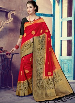 Wonderous Weaving Designer Traditional Saree