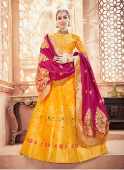 Yellow Color Designer Lehenga Choli