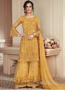 Yellow Color Designer Pakistani Suit