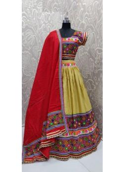 Yellow Color Navratri Chaniyacholi