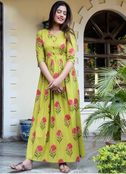 Yellow Festival Designer Gown
