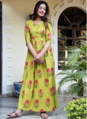 Yellow Festival Designer Gown