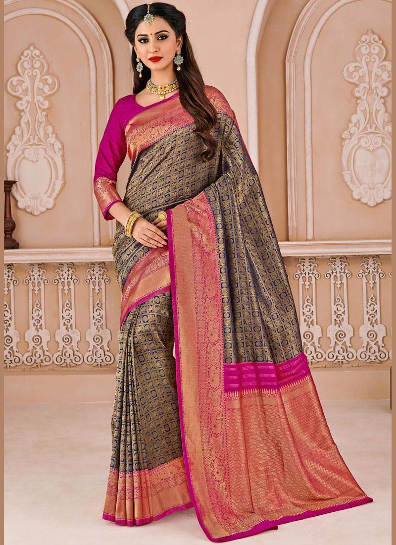 Adorable Weaving Art Silk Traditional Designer Saree