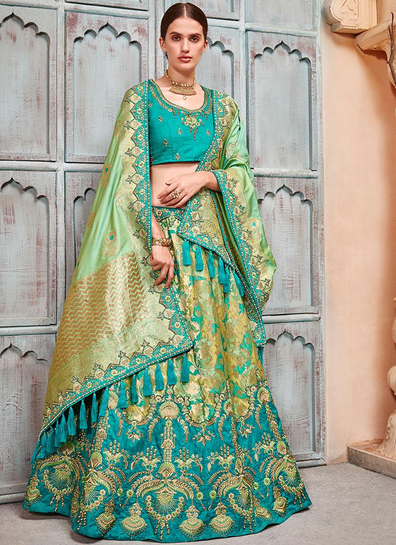 Alluring Jacquard Silk Bridal Lehenga Choli