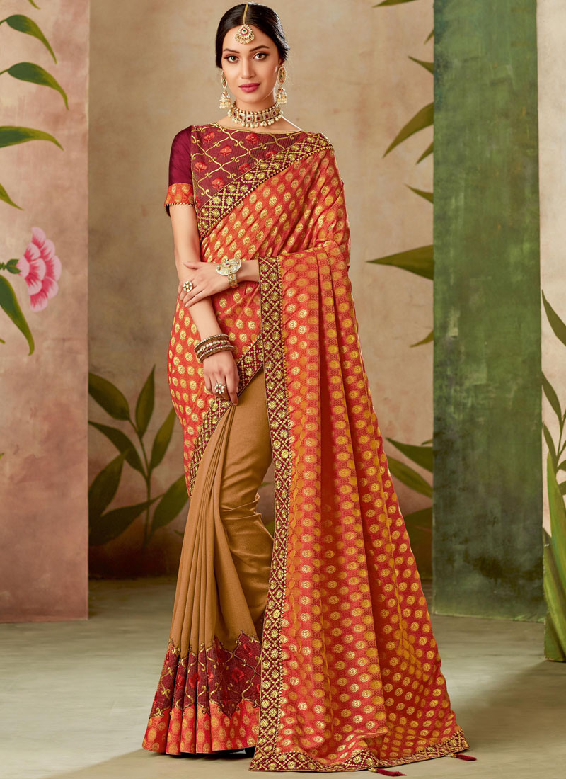 Appealing Patch Border Designer Traditional Saree