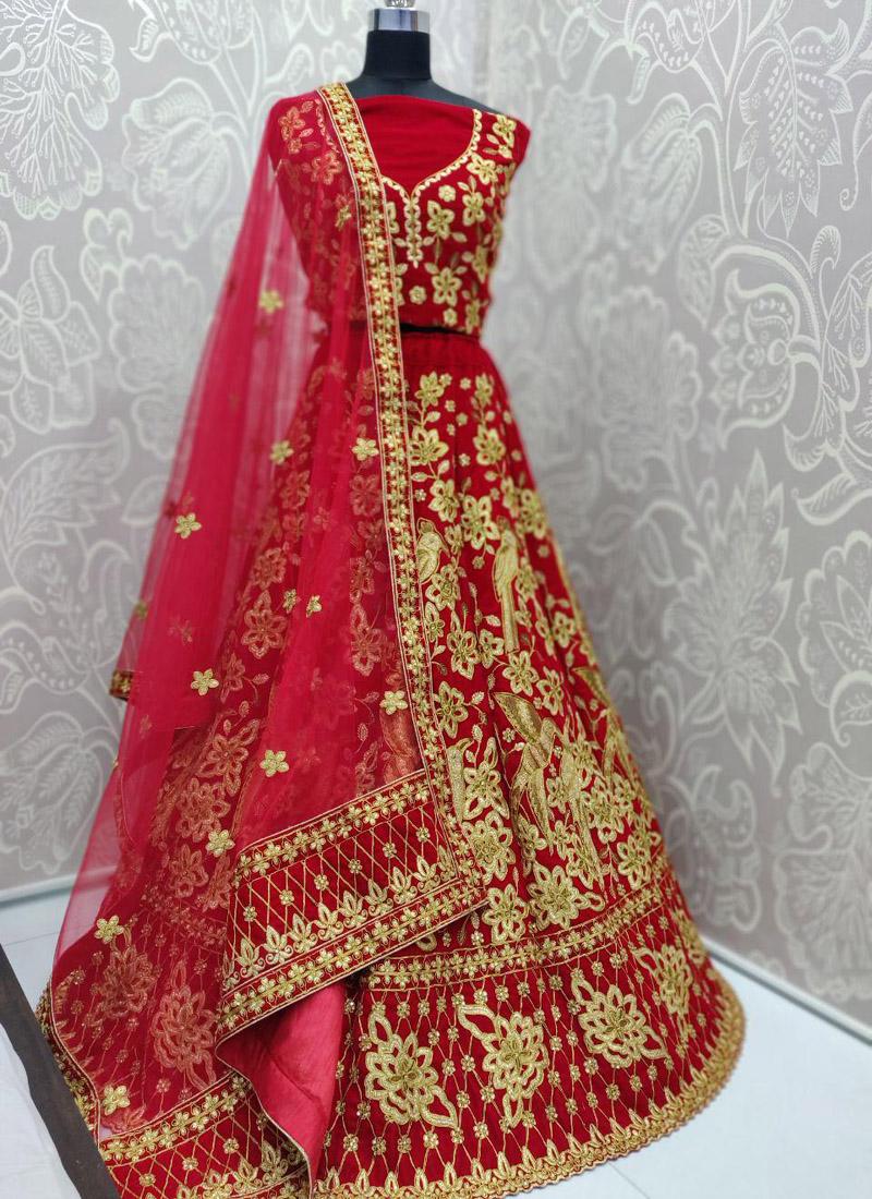 Appealing Red Bridal Lehengacholi