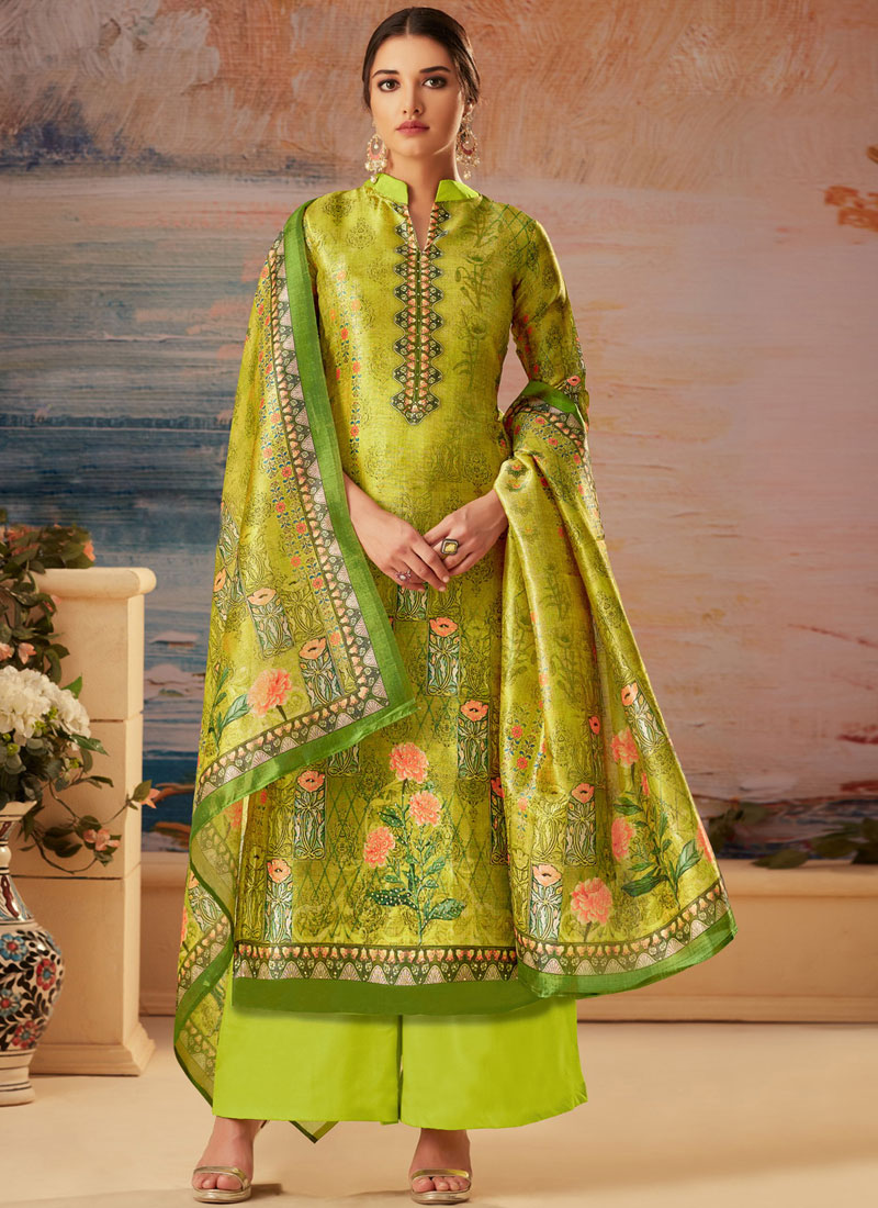 e02b0f1b90 ... Palazzo Designer Salwar Kameez in Green. Tap to expand