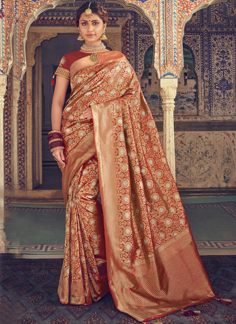 Attractive Multi Colour Art Silk Designer Traditional Saree