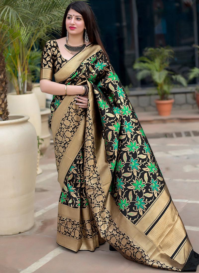 Black Designer Traditional Saree