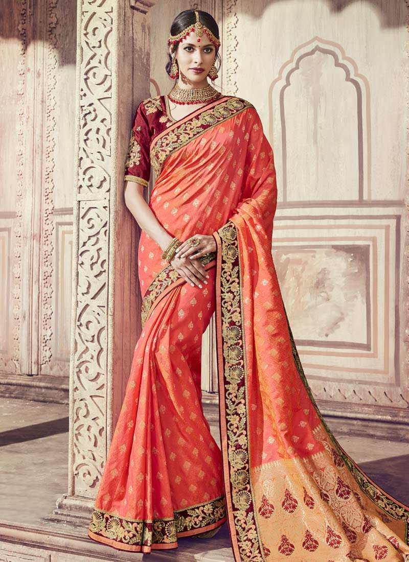 Blooming Banarasi Silk Classic Saree