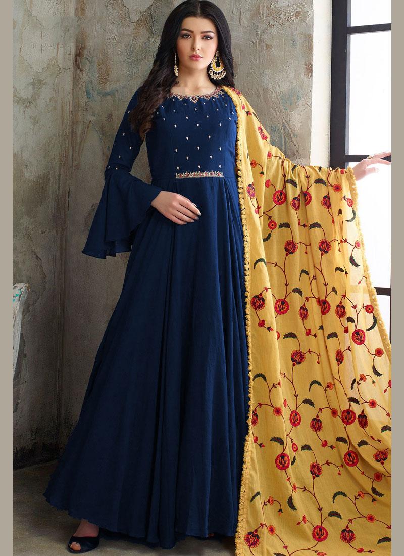 Blue Color Readymade Anarkali Suit