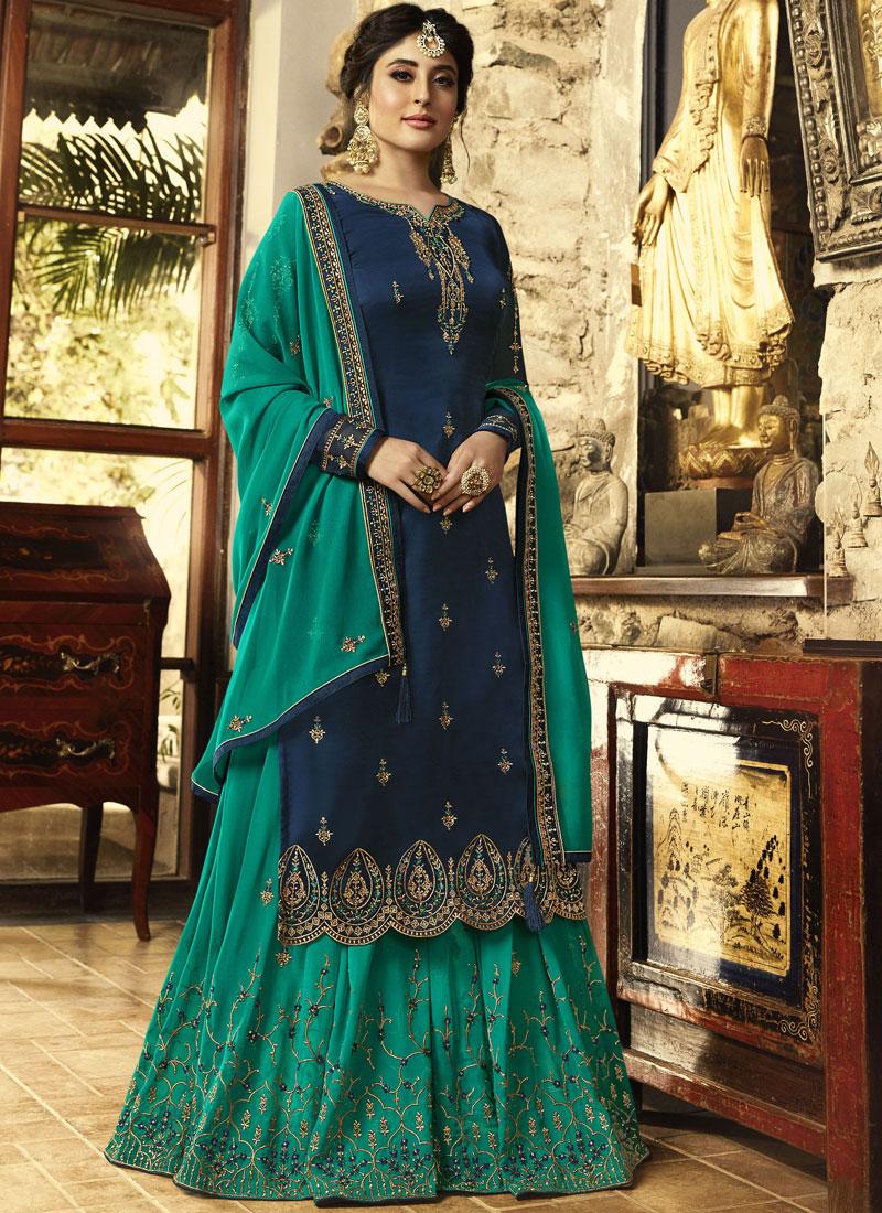 Blue Zari Designer Pakistani Suit