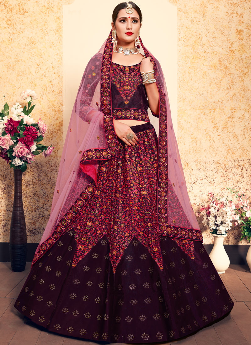 Brown Stone Trendy Lehenga Choli