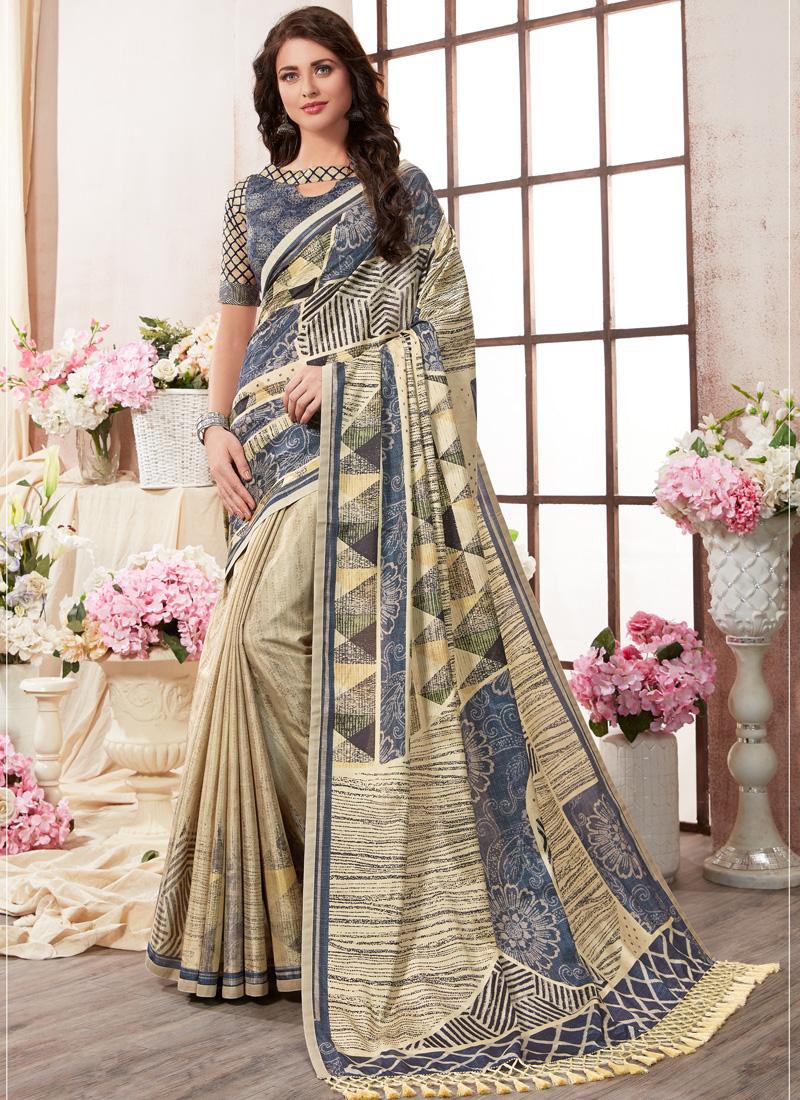 Catchy Printed Saree For Ceremonial