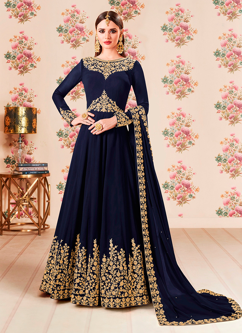Charismatic Floor Length Anarkali Suit For Festival
