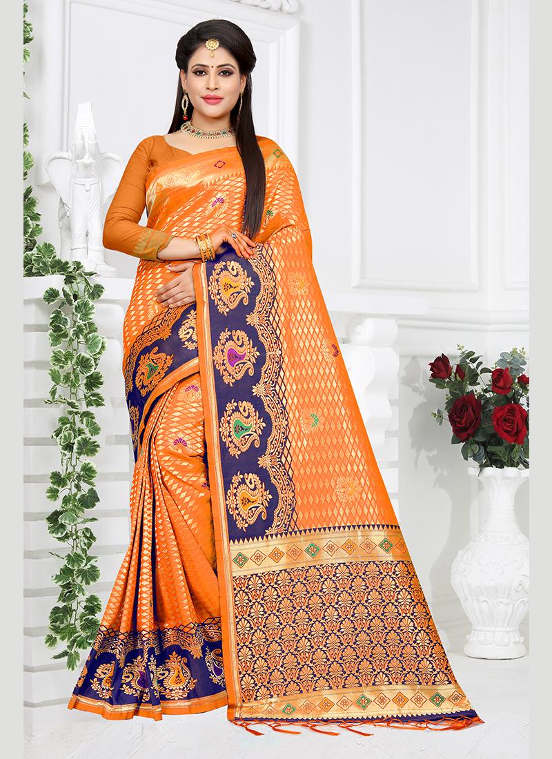 Competent Weaving Traditional Designer Saree