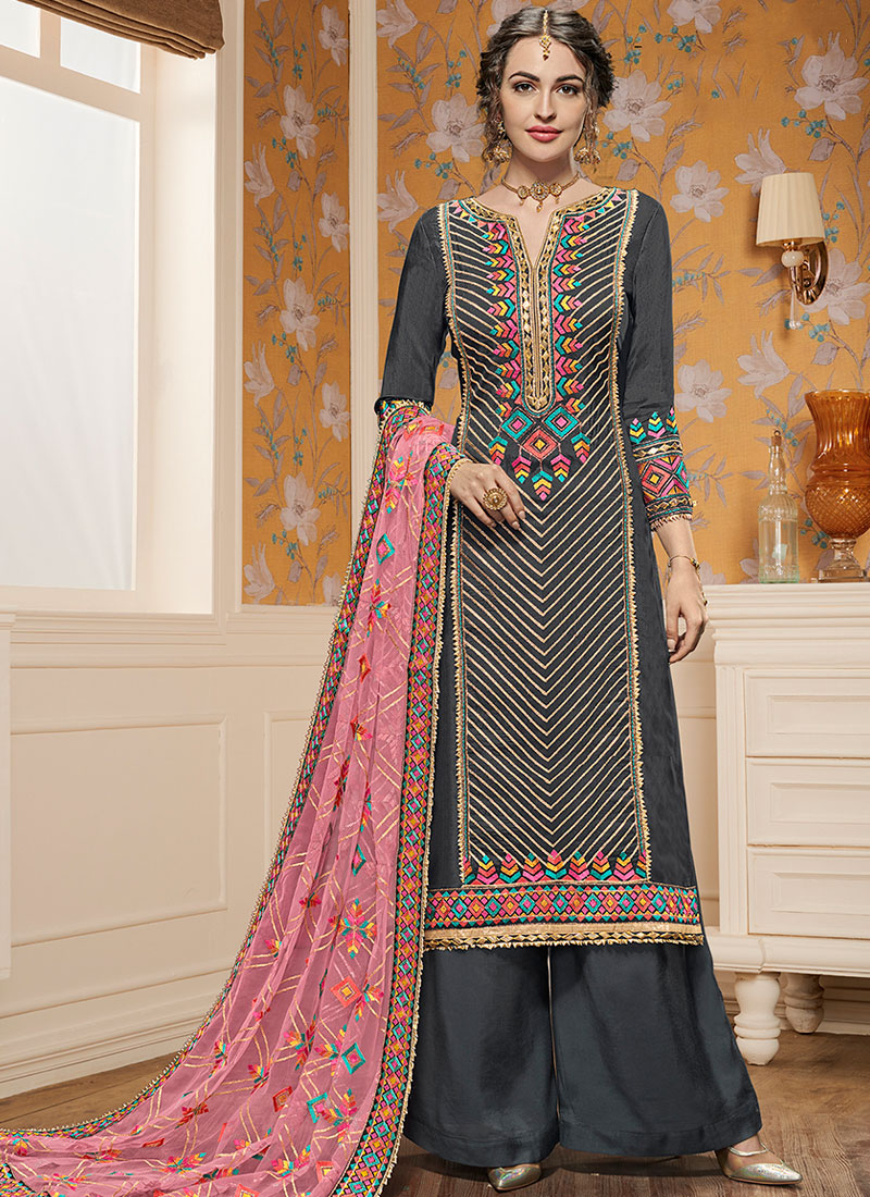 321c358d33 Conspicuous Faux Georgette Embroidered Designer Pakistani Suit. Hover to  zoom