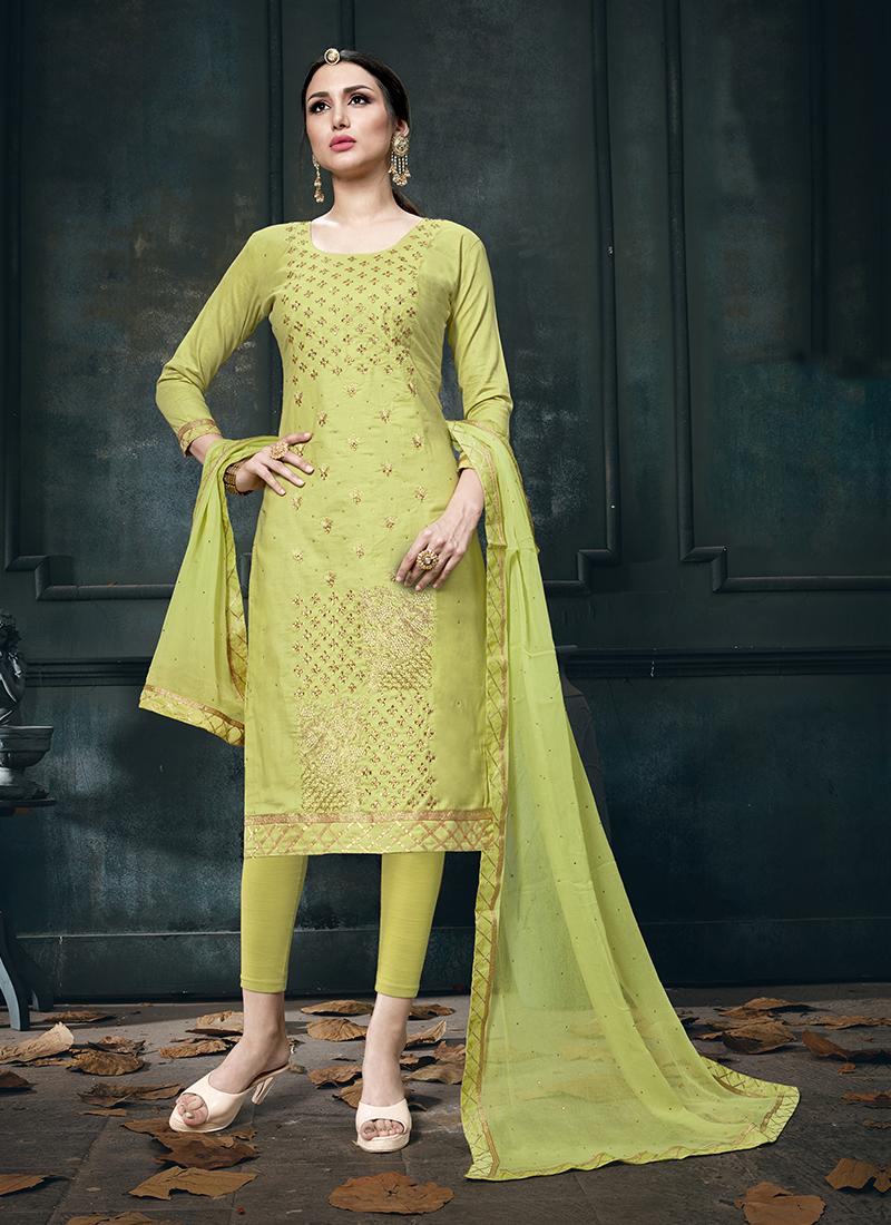 Dashing Cotton Churidar Designer Suit