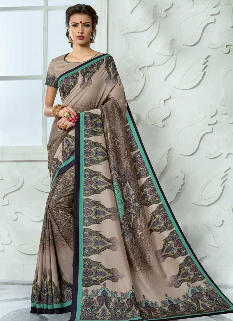 Dazzling Digital Print Multi Colour Tussar Silk Casual Saree