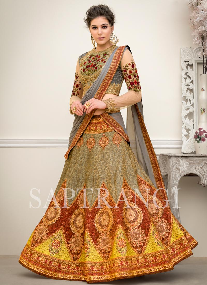 Dazzling Multi Colour Lehenga Choli