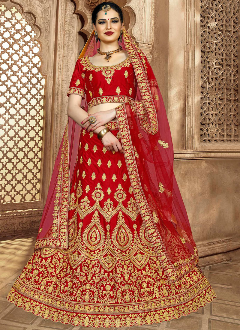 Dazzling Patch Border Lehenga Choli