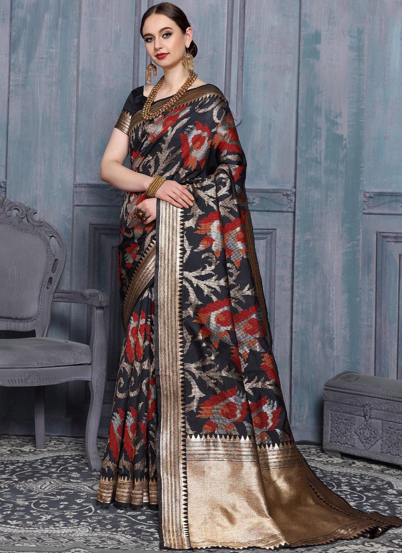 Delightful Multi Colour Ceremonial Designer Traditional Saree