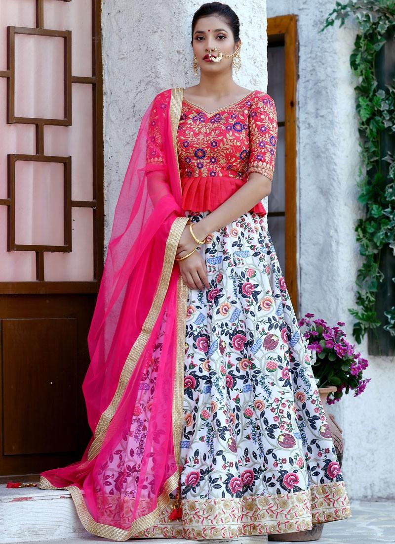 Digital Print Multi Colour Trendy Lehenga Choli