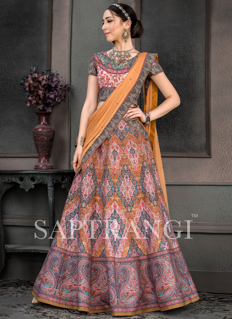 Entrancing Embroidered Sangeet Lehenga Choli