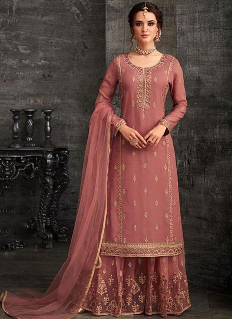 Ethnic Pink Net Designer Pakistani Suit