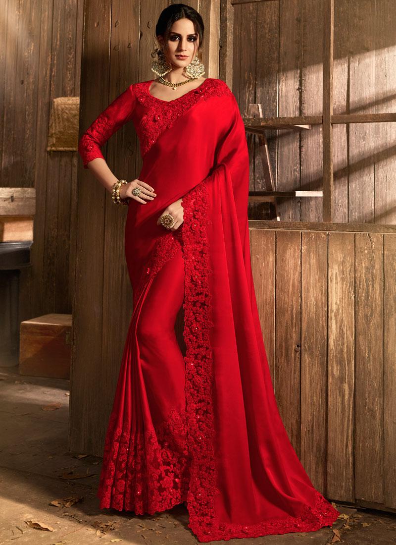Ethnic Satin Classic Saree