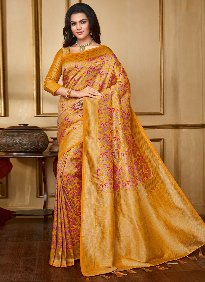 Exceptional Multi Colour Weaving Art Silk Designer Saree