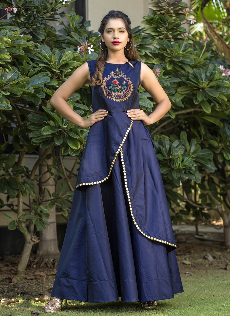 Exquisite Resham Party Readymade Gown