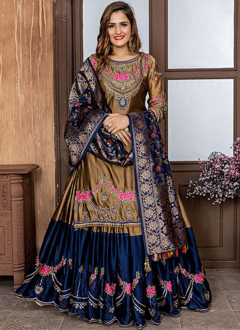 Exuberant Embroidered Gold Rangoli Designer Salwar Suit